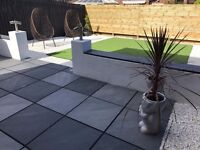 Mode Profiled contemporary paving in Graphite
