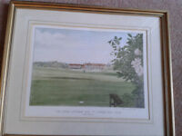 Golf Club Pirnt. Royal Lytham & St.Annes. Signed.