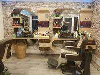 4 sets of barber station unit for sale (4 Chairs included