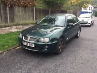 Rover 25I 1.5 for sale, Long MOT, low mileage, drives good.