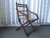 VINTAGE FOLDING BENTWOOD CHAIR CAMPAIGN STYLE CHAIR FREE DELIVERY