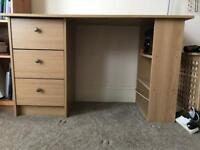 Oak Effect Desk/Dresser