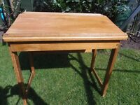 """Lovely, sturdy wooden desk for sale in Murton. Aprox 23""""W 22.5""""H 15.5""""D"""