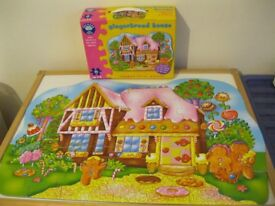 Gingerbread house floor puzzle