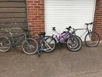 Job lot of Mountain bikes for sale as spares repairs bike