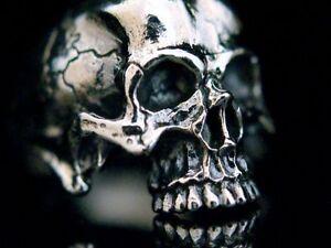 Anatomisches Schädel Ring Silber 925 Totenkopf Skull Biker Rocker Tattoo Style