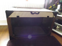 Canvas Portable pet home, with windows, not cage