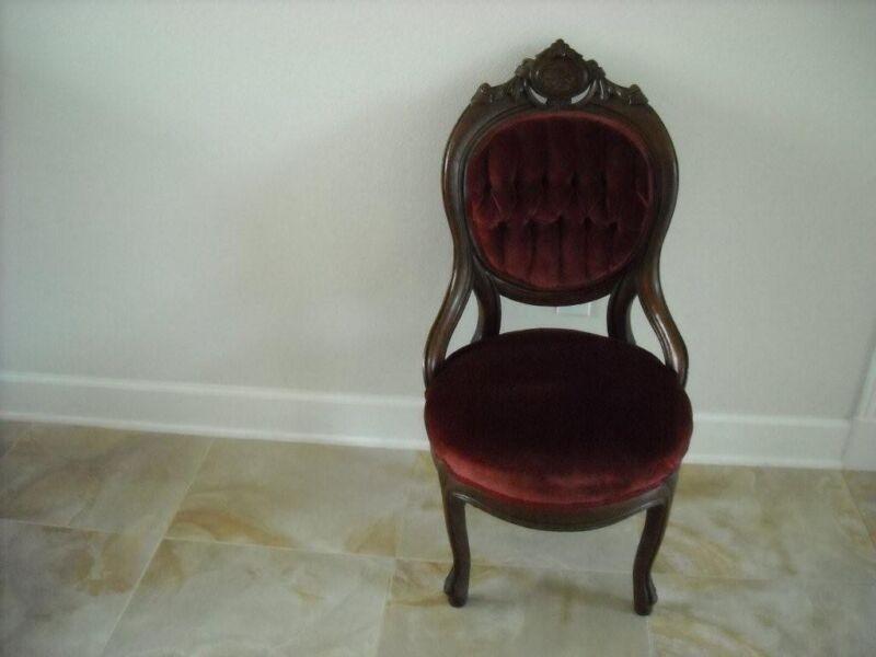 Antique Victorian armchairs Louis XV 1830-1860