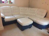 Corner sofa, dishwasher, tumble drier, washing machine, freezer, single bed, dining table & 6 chairs