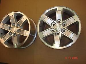 "2011 GMC 1500 Alum. OEM 17""x 6 bolt x 6 spoke rims , no tires"