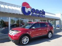 Red 2013 Ford Explorer XLT 7 Passnger SUV w/Leather Seats