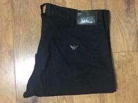 2017 Men's Armani Jeans Linen Summer Trouser Black W34 L32.5 RRP£159 Excellent
