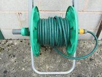 Hozelock garden hose reel with 45 foot hose