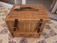 Wicker Hamper Basket vgc £10