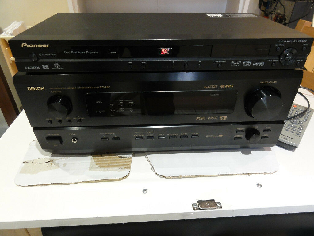 Denon AVR 2801 plus Pioneer DVD Massive power house Amp with nice ...