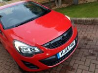 2014 Vauxhall Corsa Ecoflex 1.0l Red Low Genuine Mileage ONLY AT 9295, 5 Seats,£30 Tax