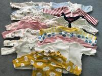 Bundle of baby girl clothes newborn - 3 months