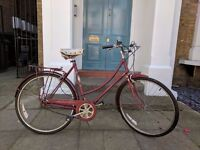 Vintage Raleigh Ladies Bike - original white leather seat