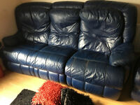 3 Piece Leather Reclining Sofa Set - *Quick Sale Open to Offers*