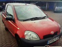 low insurance group 1 litre 2002 Toyota Yaris , ideal 1st car ,px welcome