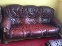 3 seated sofa & 2 chairs