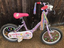 "Girls first bike, 16"" wheels"