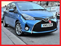 (£30 Tax)-- 2015 Toyota Yaris 1.3 VVTi -- 22800 Miles -- iCon 5 Door-- Low Mileage -Part Exchange OK