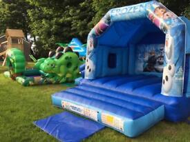 Frozen themed bouncy castle
