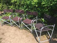 4 x directors chairs ideal camping garden