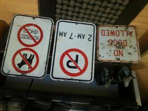 metal heavy duty Signs- no dogs allowed/no parking/no dogs&motor