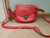Womens small red/pink over shoulder bag in very good condition