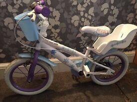 14inch Girls Frozen bike good as new