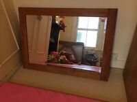 Oak mirror - great condition