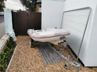 3.4m valiant rib, 15hp outboard & trailer