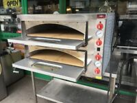 PIZZA DOUBLE DECK OVEN CATERING COMMERCIAL KITCHEN RESTAURANT BAR