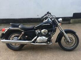 FULLY WORKING 2008 Honda shadow 125cc learner motorcycle 125 cc geared bike with 1 years mot.