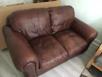 FREE 2 seater leather sofa - collection only