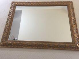 Golden Ornately Framed Mirror £15