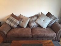 Oakland 4 Seater Pillow Back Sofa and Arm Chair
