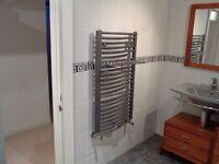 towel radiator gunmetal colour good as new bathroom radiator ensuite