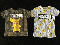 Boys Pokemon pikachu tops aged 5-6 years