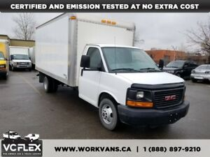 2012 GMC Savana 3500 G3500 16Ft V8 Gasoline Cube Van