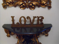 Wooden free standing LOVE sign