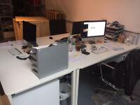 Sedus white desks x1 office furniture desks tables. used. good condition.BARGAIN. original RRP £250