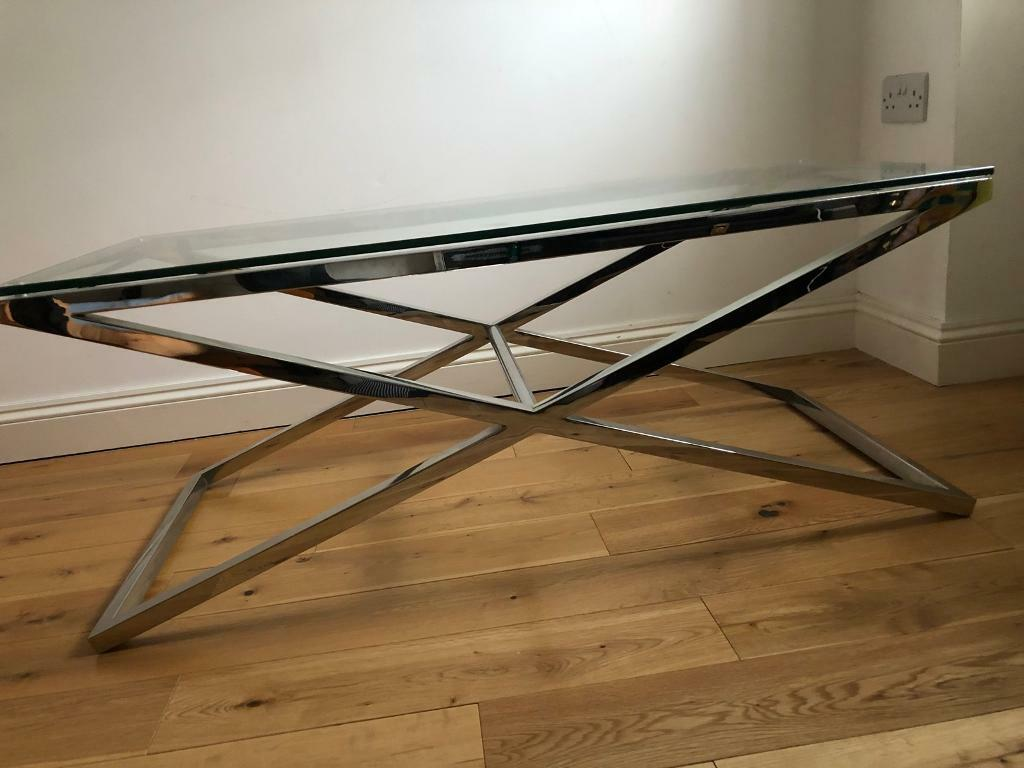 John Lewis Glass Coffee Table