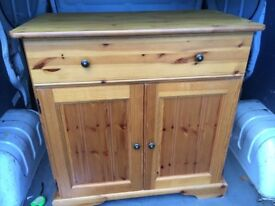 solid pine unit with draw