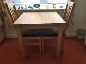 Small table and two chair - Collection Only
