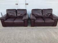 Leather 2 seater sofas great condition & quality can deliver 🚛👍🏻😁