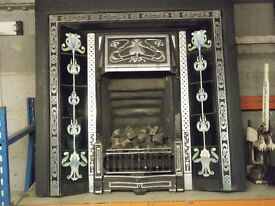INSET METAL FIRE WITH COAL EFFECT GAS FIRE