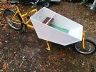 Family cargo bike adult plus 2 kids + dog lots of gears bakfiets e bike? rickshaw